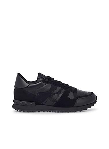 Valentino Hakiki Deri Sneaker Ayakkabı Erkek Ayakkabı S0723 Nsd 0No Siyah